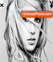Britney Spears 20 theme screenshot