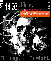 Skull 05 theme screenshot