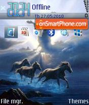 Horses Freedom tema screenshot