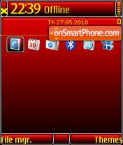 Red Black DI QVGA es el tema de pantalla