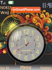 Clock Vector es el tema de pantalla