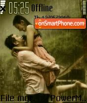 Couple In Rain 01 theme screenshot