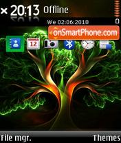 Fractal tree es el tema de pantalla
