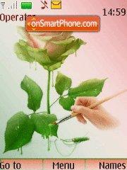 Rose Painting es el tema de pantalla