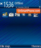 Blue in es el tema de pantalla
