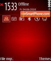 Black-red es el tema de pantalla