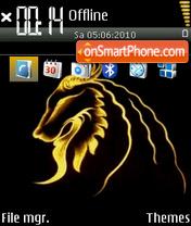 Golden Leo tema screenshot