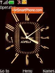 Bronze Clock theme screenshot