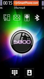 5800 Xm es el tema de pantalla