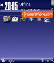 Dark blue 02 es el tema de pantalla