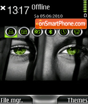 Green Eyes 01 es el tema de pantalla