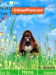 Dog and bubbles by djgurza(swf 2.0) es el tema de pantalla