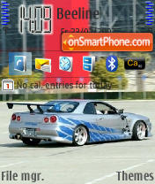 Nissan Skyline theme screenshot