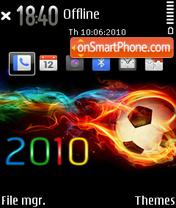 2010 worldcup es el tema de pantalla