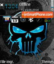 Blue skull by Altvic es el tema de pantalla