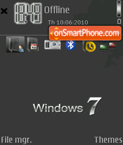 Black windows7 theme screenshot