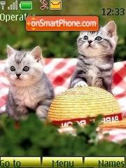 Kittens on the nature theme screenshot
