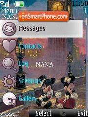 Disney Clock theme screenshot