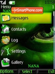 Hulk Clock theme screenshot