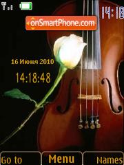 Violin SWF Clock theme screenshot