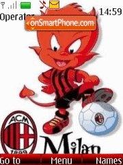 FC Milan theme screenshot