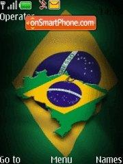 Brazil Flag es el tema de pantalla