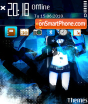 Black rock shooter 01 theme screenshot