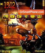 Demonic boy theme screenshot