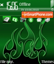 Green 02 tema screenshot