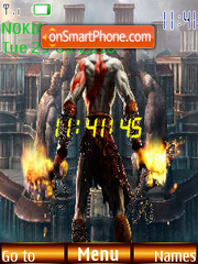 God Of War Clock es el tema de pantalla