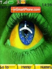 Brazil Eye theme screenshot