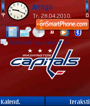 Washington Capitals 01 theme screenshot
