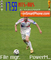 Zinedine Zidane Tribute theme screenshot