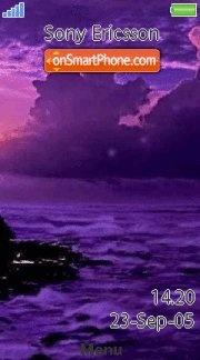 Ocean Sunset 01 es el tema de pantalla