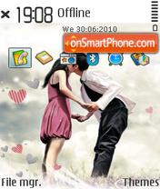 Sweet kiss 02 es el tema de pantalla