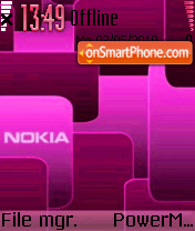 Nokia Pink 02 es el tema de pantalla