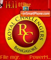 Royal Challengers theme screenshot