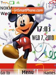 Mickey Dual Clock tema screenshot