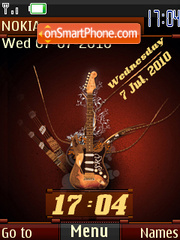 Funky Guitar Swf es el tema de pantalla