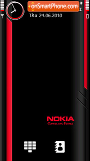 Red Black Nokia theme screenshot