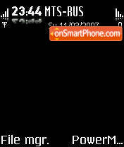 Neon Black theme screenshot