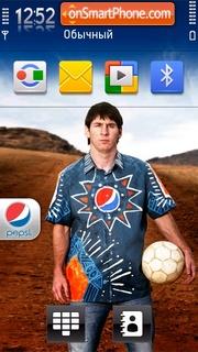 Messi Pepsi theme screenshot
