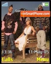 Black Eyed Peas theme screenshot