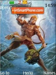 Hanuman Ji theme screenshot