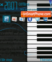 Jumping notes (OVI) theme screenshot