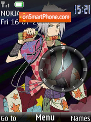 Gokudera Hayato clock theme screenshot