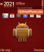 Golden android es el tema de pantalla