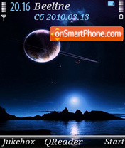 Outer Space Blue theme screenshot