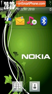 Green Nokia 02 theme screenshot