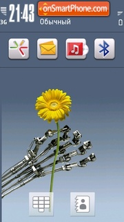 Robotic Hand theme screenshot
